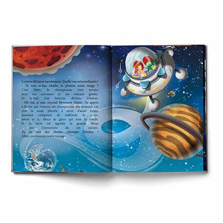 Livre personnalisé voyage dans les étoiles fait sur-mesure
