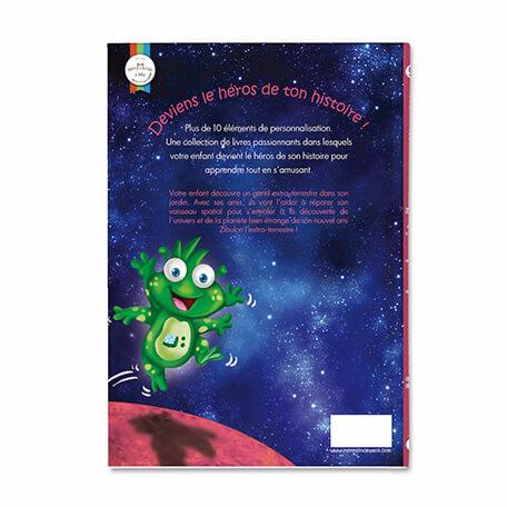 Livre personnalisé sur les planètes et les étoiles pour les enfants