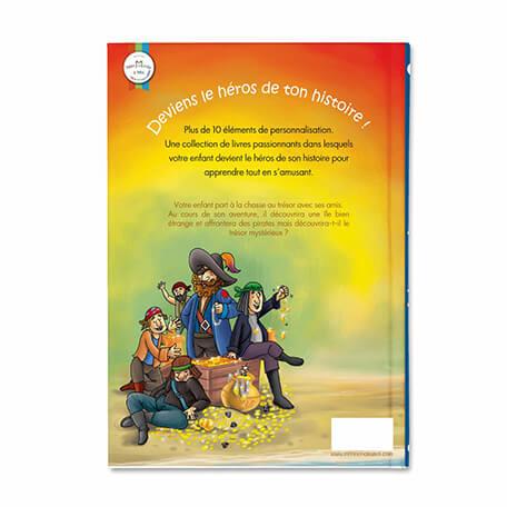 Couverture rigide pour ce beau livre personnalisé pour les enfants ile au trésor