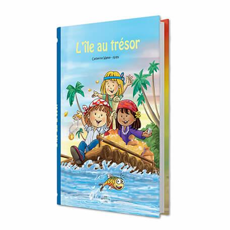 Livre personnalisé pour les enfants ile au trésor avec couverture rigide