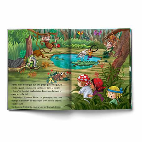 Aventure de pirates et trésors dans ce beau livre personnalisé