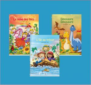 Livre personnalisé dont l'enfant est le héros.