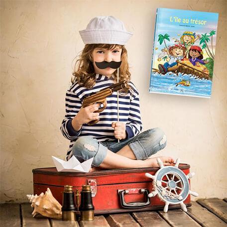Livre personnalisé pour les enfants sur les pirates et trésors