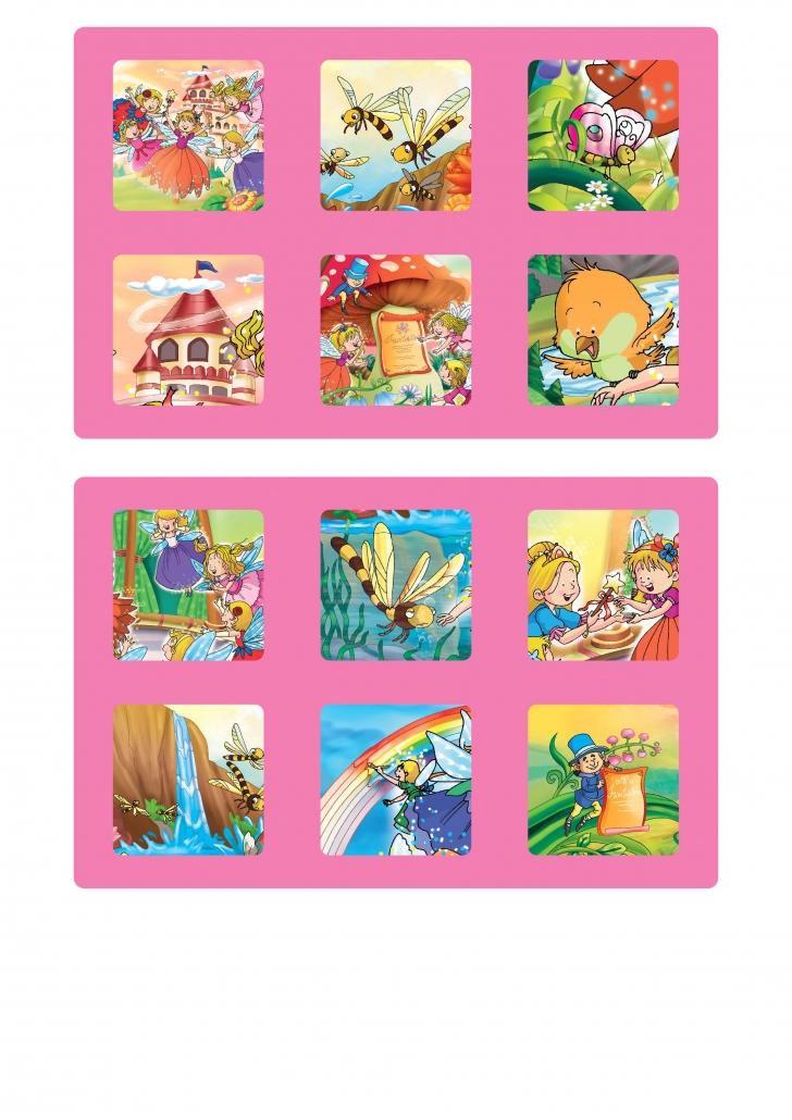 Planches fées du jeu loto à imprimer