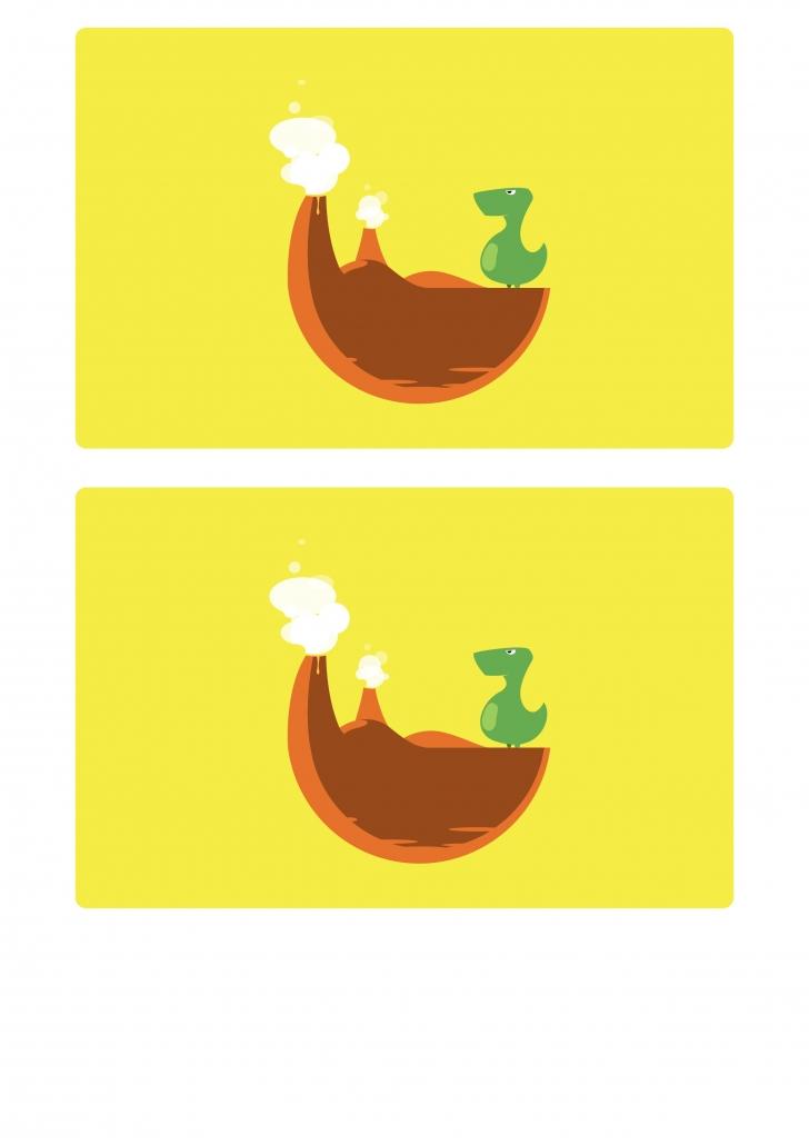 Verso des planches dinosaures du jeu de loto à imprimer
