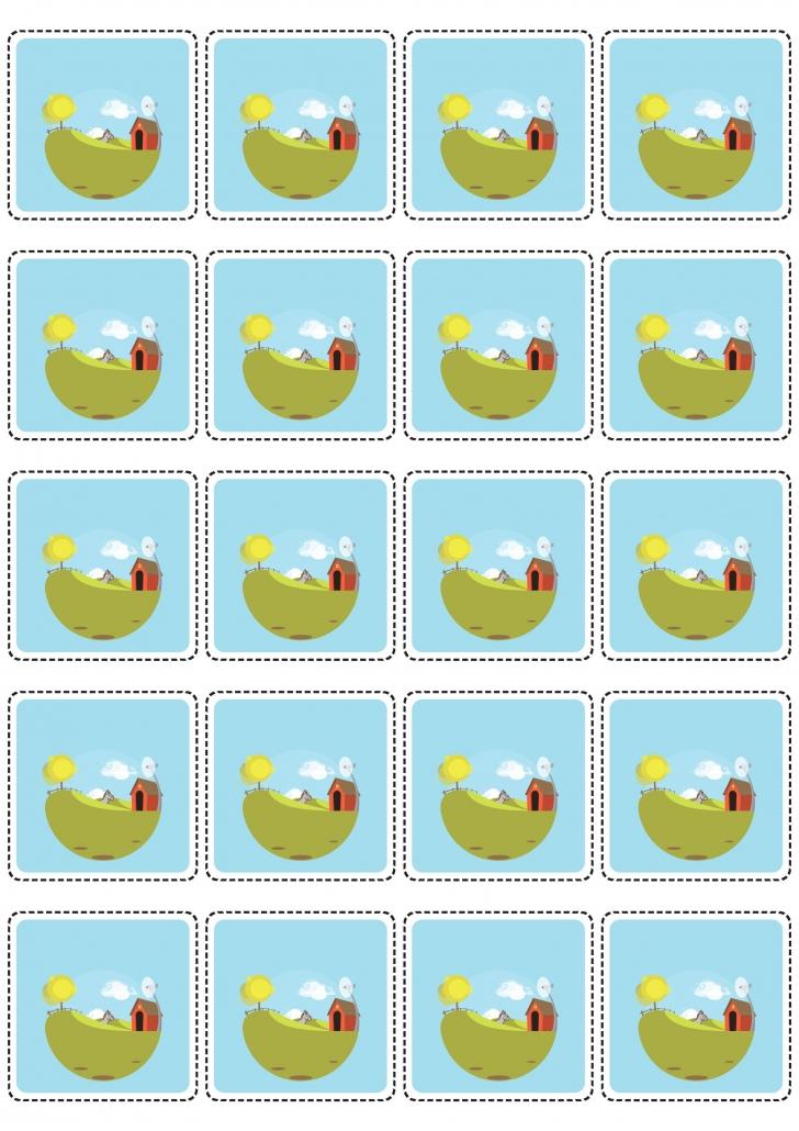 Verso des cartes ferme du jeu loto à imprimer
