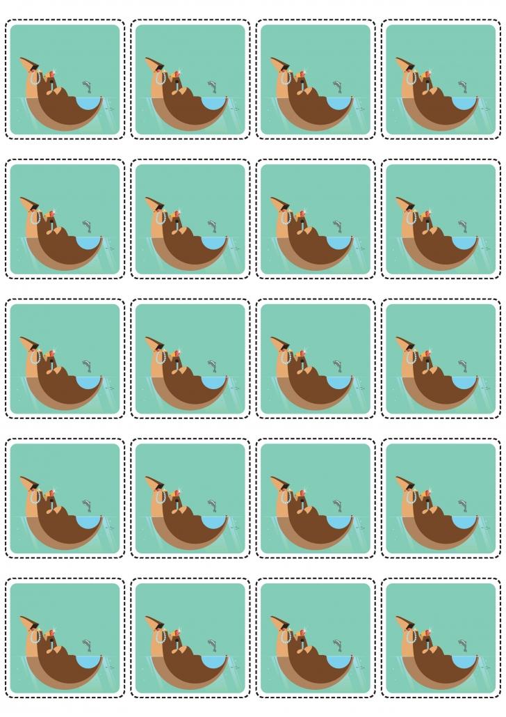 Verso des cartes île du jeu loto à imprimer